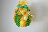 Handcrafted Easter Ornament - yellow/green