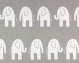 Premier Prints Köper Elefanten grau/weiß