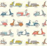 BIO-BW Birch Fabrics Retro-Mopeds