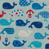 Cosmo Canvas Wale blau