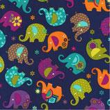 Michael Miller Elefanten dunkelblau