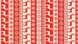 Makower Scandi Streifen taupe/rot