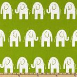 Premier Prints Canvas Elefanten grün