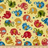 Michael Miller Elefanten gelb/bunt