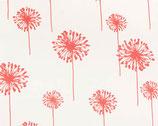 Premier Prints Pusteblume rot/weiß groß