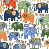 Michael Miller Happy Elephants