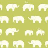 BIO-BW Birch Fabrics Elefanten grün