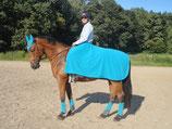 Mattes-Reitdecke mit Ausschnitt für den Reiter