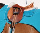 EUROFIT-Schabracke MER mit Lammfellkissen und Rand vorne und hinten