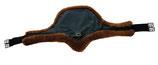 Mattes SLIM-LINE Schlagschutz-Langgurt asymmetrisch mit abnehmbarem Lammfellbezug