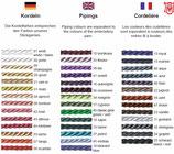 Farbauswahl Fashion Line Kordel I ( aussen) ISLAND-Sattelunterlagen