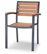 GS P.459 Poltrona impilabile, struttura in alluminio verniciato. Stackable armchair, aluminium varnished