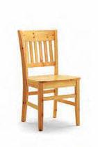 Sedia in legno con seduta legno pino - VERONICA PINO S/155