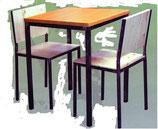 SEDIA CASSINO Struttura: ferro grezzo con smerigliature. Verniciatura trasparente