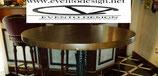 TAVOLO ALTO CON PIANO IN LEGNO MASSELLO DIAMETRO 60X3 TINTA NOCE A BASE IN GHISA NERO BUCCIATO 1013B