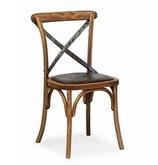 Sedia 365 Sedia vintage struttura in legno e ferro con la con seduta imbottita o masselloome prodotto