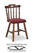 SEDIA COUNTRY PINO S/119  sedile imbottito Dimensioni Ingombro L 49 x P 47 x H schienale 81 H sedile