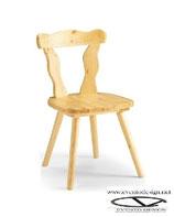 Sedia in legno di pino stile rustico - PATRIZIA  PINO S/135 tinta naturale