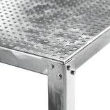 Tavolo industria geto 1350 x 700 mm zingato