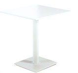 Tavolo 70x70x2 piano in polimerico bianco basse tinta bianco rall