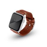 Apple Watchband Alex Vintage braun 42/44mm Edelstahl