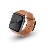 Apple Watchband Alex Vintage cognac 42/44mm Aluminium Space Grau