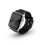 Apple Watchband Alex Vintage black 42/44mm Aluminium Silber