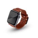 Apple Watchband Alex Vintage braun 42/44mm Aluminium Space Grau