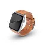 Apple Watchband Alex Vintage cognac 42/44mm Aluminium Silber