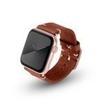 Apple Watchband Alex Vintage braun 42/44mm Aluminium Gold