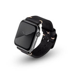 Apple Watchband Alex Vintage black 42/44mm Edelstahl Space Schwarz