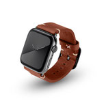 Apple Watchband Alex Vintage braun 42/44mm Edelstahl Space Schwarz
