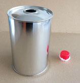 Rundflasche mit Kunsstoffausgießer (Volumen: 1000 ml.)