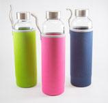 Glasflasche mit Filter