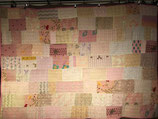 Tagesdecke Patchwork rosa