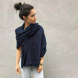 COMING SOON / SQUARE SCARF navy