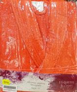 Albornoz baño rizo algodón 100% Naranja