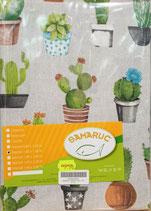 Mantel Loneta Samaruc Cactus. Todas las medidas
