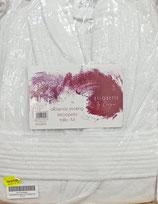 Albornoz baño rizo algodón 100% Blanco