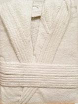 Albornoz baño CON CAPUCHA rizo algodón 100% Blanco