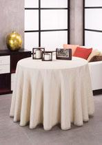 Falda mesa camilla verano color beig claro