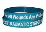 Posttraumatic Stress / Not All Wounds Are Visible - PTSD awareness silicone wristbands
