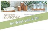 Geschenk-Gutschein im Wert von € 50,00