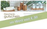 Geschenk-Gutschein im Wert von € 30,00
