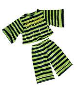 Pyjama grün gestreift W657