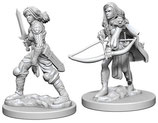 Pathfinder Battles: Deep Cuts Unpainted Miniatures - Human Female Fighters
