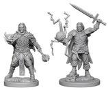 Pathfinder Battles: Deep Cuts Unpainted Miniatures - Human Male Clerics