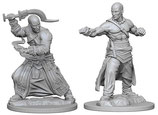 Pathfinder Battles: Deep Cuts Unpainted Miniatures - Human Male Monks