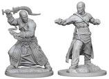 Pathfinder Battles: Deep Cuts Unpainted Miniatures - Human Male Monks