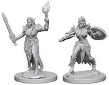 Pathfinder Battles: Deep Cuts Unpainted Miniatures - Elf Female Fighters